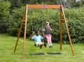 Wooden double swing